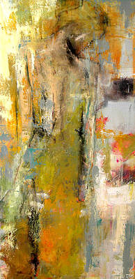 Fashion Abstract Painting - One Night In Paris by Lisa Moore
