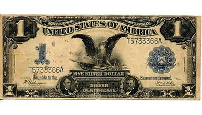 One Silver Dollar Print by Lanjee Chee