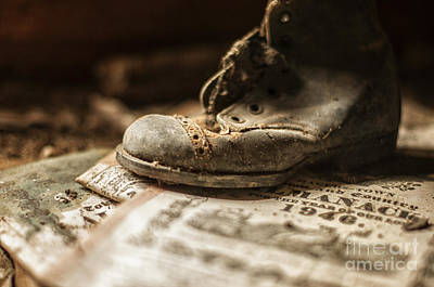 Pages Of Life Photograph - One Single Shoe by Terry Rowe