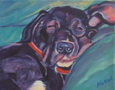 One Tired Puppy Original by Stephanie Allison