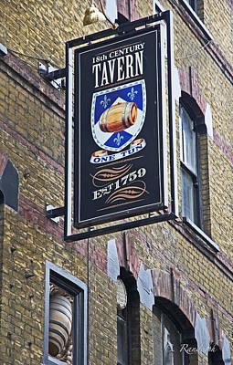 One Tun Tavern Print by Cheri Randolph