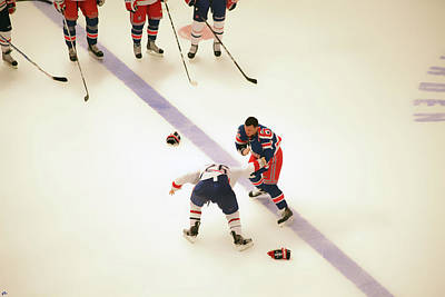 New York Rangers Photograph - One Two Punch by Karol Livote
