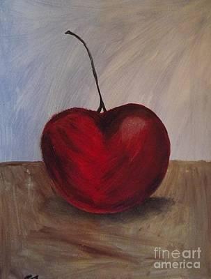 One Very Cherry Print by Becca J