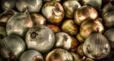 Vegetables Photograph - Onions by David Morefield