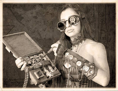 Steampunk Photograph - Only A Woman Minuscularmachinist Could Possibly Have Conceived Of Such A Device by Evan Butterfield