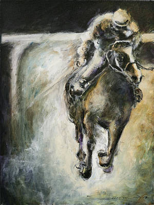Racehorse Painting - Only One In The Race by Francine Stuart