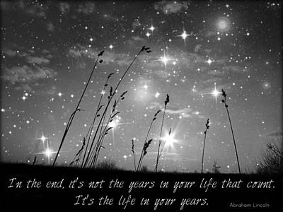 Only The Stars And Me...in The End... Print by Marianna Mills