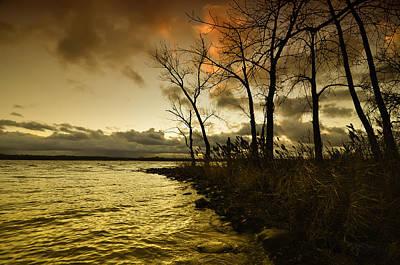 Winter Storm Mixed Media - Onondaga Lake Sunset by Stuart Gallagher