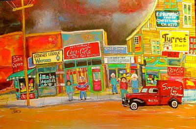 Painting - Ontario Street 1960 by Michael Litvack