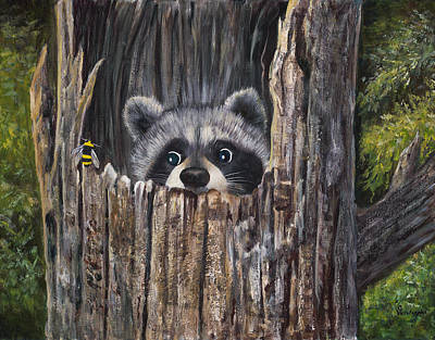 Shrubbery Painting - Ooops by Carol Verstoppen