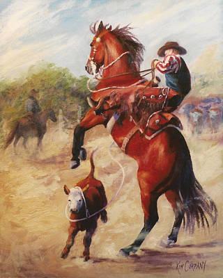 Horse Painting - Oops          Buckaroo Western Oil Painting by Kim Corpany