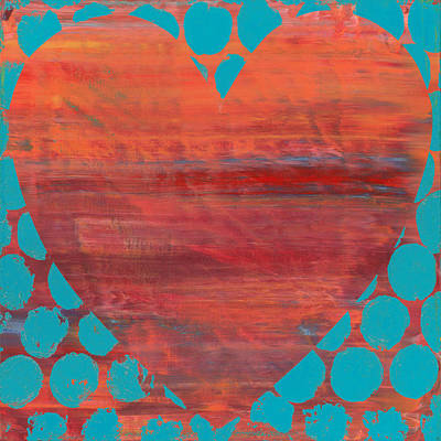 Recycled Painting - Op Heart by Cassandra Tondro