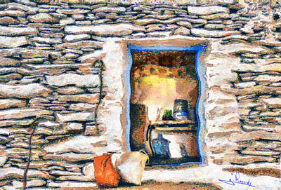 Chair Painting - Open Door by George Rossidis
