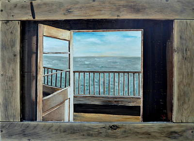 Found Art Painting - Open Door by Lindsay Frost