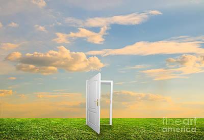 Unreal Photograph - Open Door To New Life by Michal Bednarek