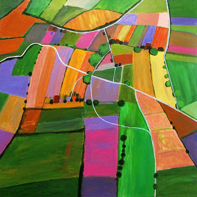 Farm Fields Painting - Open Field Cultivation by Toni Silber-Delerive
