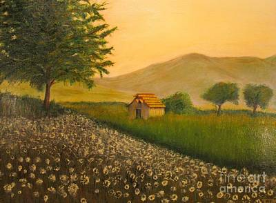 Flowers Painting - Open Meadow - Original Oil Painting by Anthony Morretta