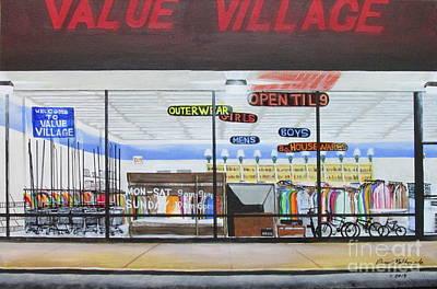 Walmart Painting - Open Til 9 by Edward Maldonado