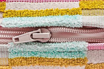 Zipper Photograph - Open Zip by Tom Gowanlock