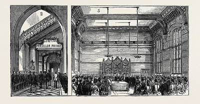 Opening Of The Seamans Orphanage, Liverpool Print by English School