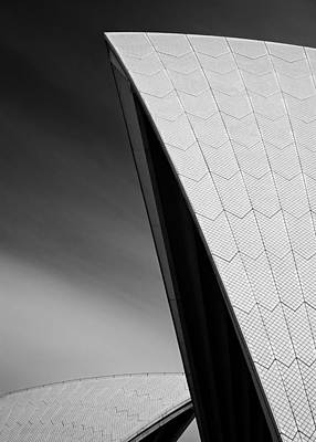 Semi Abstract Photograph - Opera House by Dave Bowman