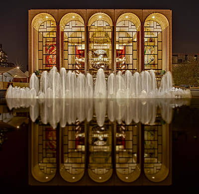 Lincoln Center Photograph - Opera House Reflections by Susan Candelario