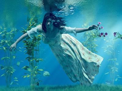 Sink Digital Art - Ophelia by Daniel Eskridge
