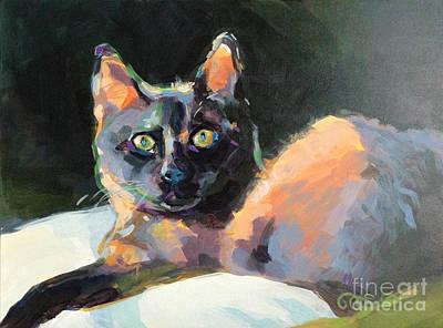 Peaches Painting - Opie by Kimberly Santini