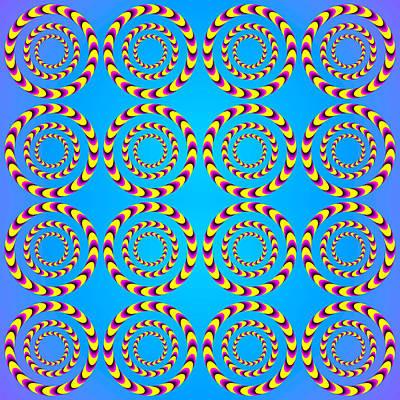 Optical Illusion Spinning Wheels Print by Sumit Mehndiratta