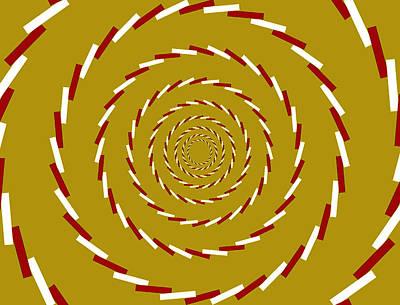 Optical Illusion Whirlpool Print by Sumit Mehndiratta