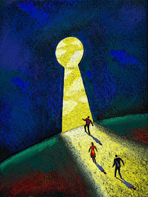 Portal Painting - Optimism by Leon Zernitsky