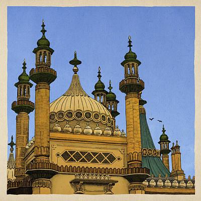 Brighton Drawing - Opulence by Meg Shearer