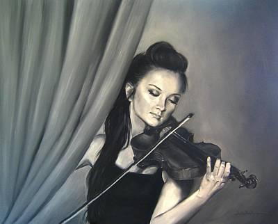Monotone Painting - Opus One by Junko Van Norman