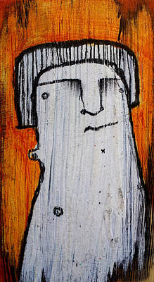 Charcoal Mixed Media - Or As Human As You Know It No 149 by Mark M  Mellon