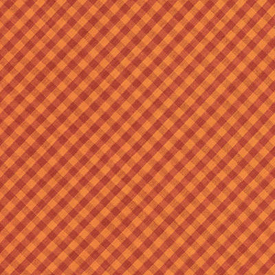 Orang And Brown Checkered Diagonal Tablecloth Cloth Background Print by Keith Webber Jr