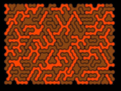 Algorithmic Digital Art - Orange And Chocolate by Michael Connolly