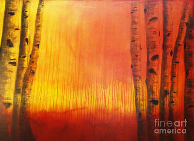 Orange Aspen Print by Dana Kern