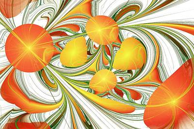 Thought Digital Art - Orange Attitude by Anastasiya Malakhova