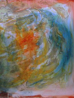 Orange Blue 1 Print by Karen Lillard