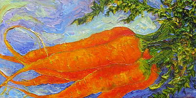 Orange Carrots Print by Paris Wyatt Llanso