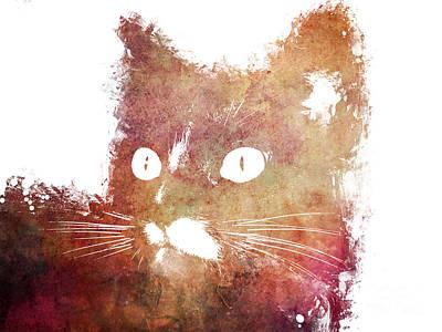 Love Digital Art - Orange Cat by Justyna JBJart