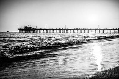 Orange County California Picture Of Balboa Pier  Print by Paul Velgos