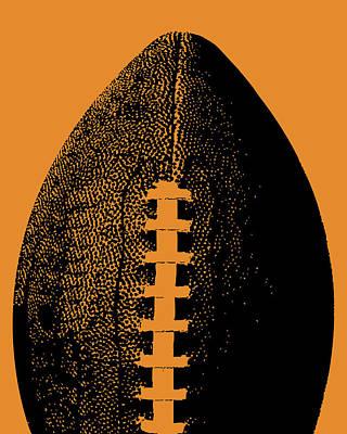 Sports Digital Art - Orange Football Pop Art by Flo Karp