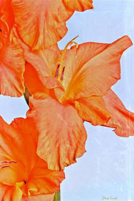 Orange Glad Print by Heidi Smith