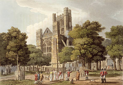 Street Drawing - Orange Grove, From Bath Illustrated by John Claude Nattes
