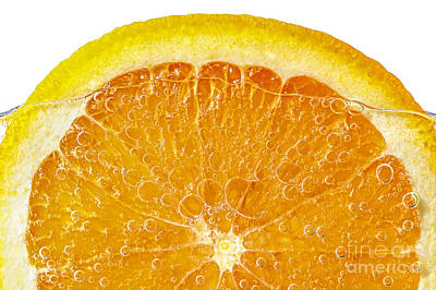 Orange In Water Print by Elena Elisseeva