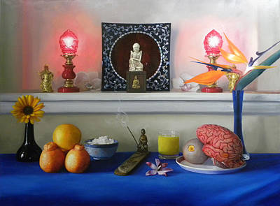 Brain Painting - Orange Is A Miele Taste My Mouth. by Richard Barone