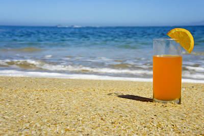 Orange Juice Print by Aged Pixel