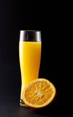 Orange Juice Print by Gergana Chakalova
