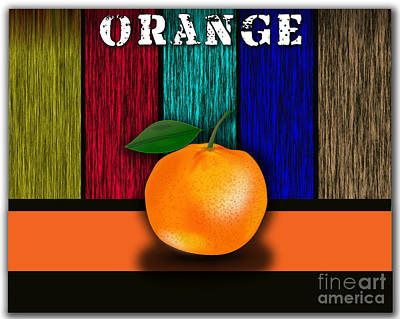 Fruits Mixed Media - Orange by Marvin Blaine